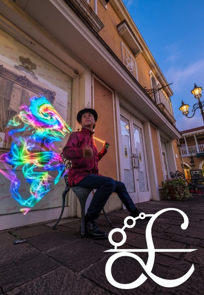 LEDジャグリング 光る レーザーグラフィックポイ ビジュアルポイ 有名パフォーマー パフォーマー 有名 人気 ジャグリング 飛鳥ⅱ豪華客船 yuumei 大道芸 大道芸人